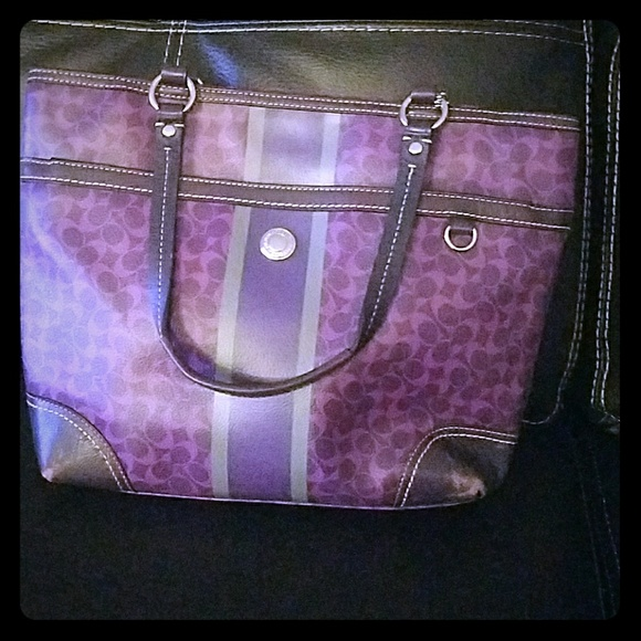 Coach Handbags - Coach bag - purple and brown